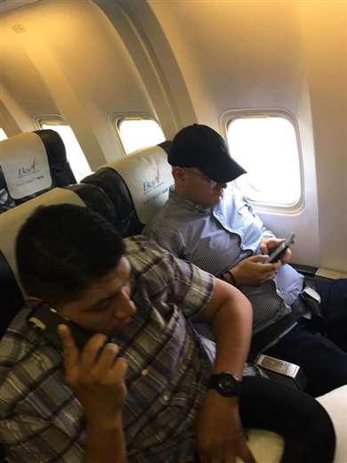 La fotografía de Montes en un vuelo de BoA que circula en las redes