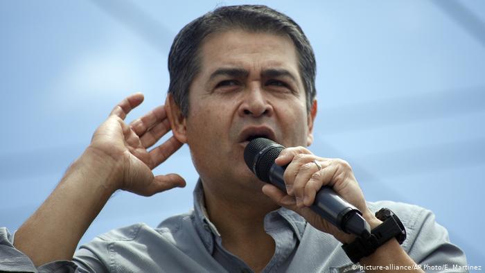 Juan Orlando Hernandez, Präsident von Honduras (picture-alliance/AP Photo/E. Martinez)