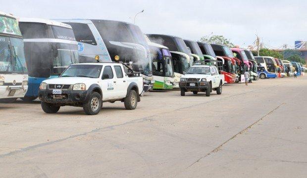 El Sedes fumigó buses en la Terminal Bimodal, harán lo mismo este jueves