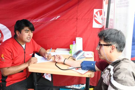 Campaña de donación de sangre en La Paz.