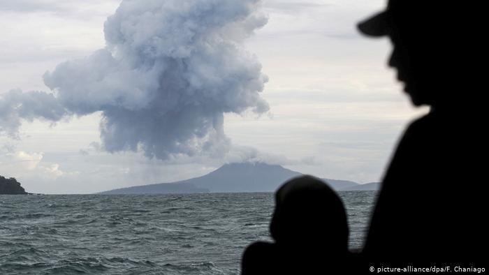 Erupción del Anak Krakatoa en 2018.