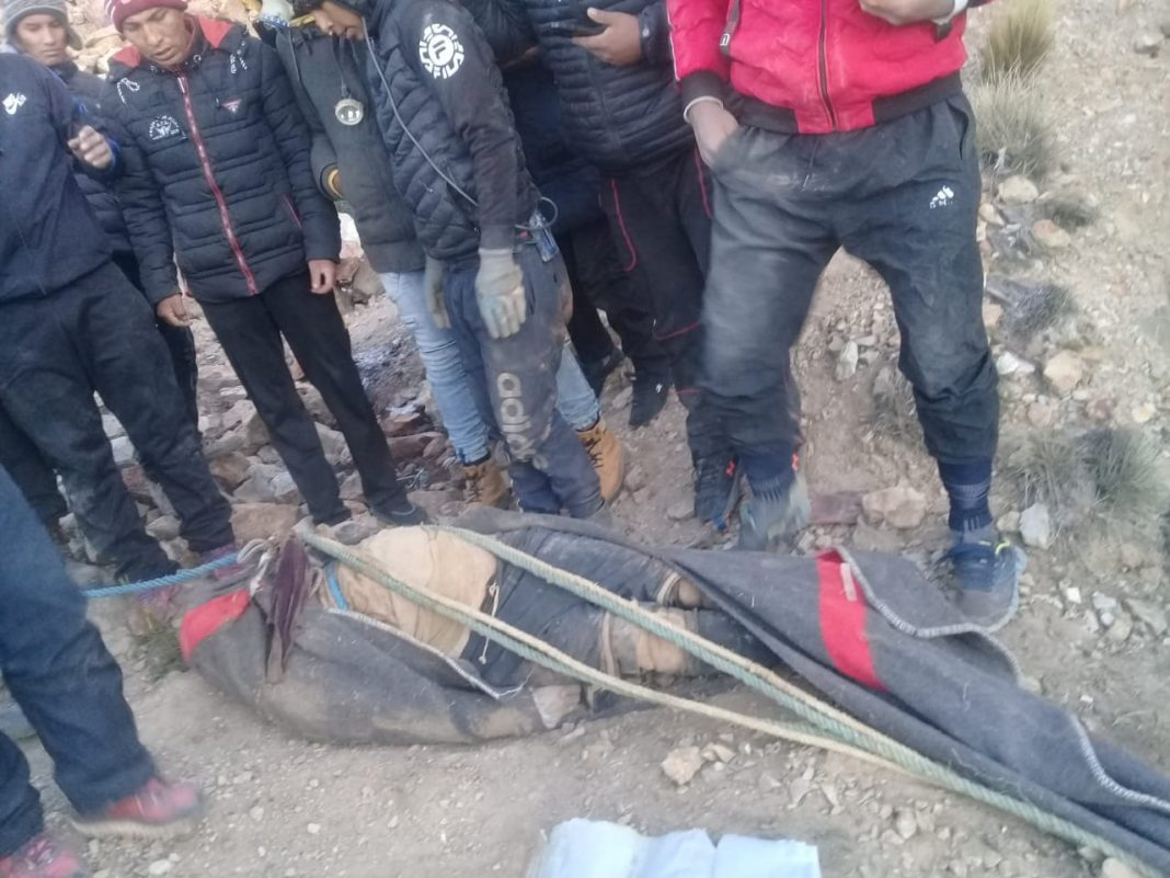 Juku muere en cercanías a Huanuni Foto: Radio Fides
