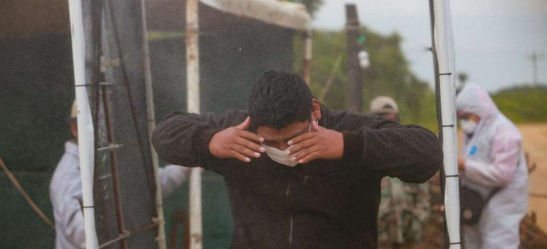 En Saavedra instalaron cámara de desinfección en las vías de acceso/Foto: Jorge Uechi