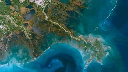 El río Mississippi (la imagen muestra su delta) es el más grande y poderoso de los Estados Unidos. (Planet Observer/UIG/Shutterstock)