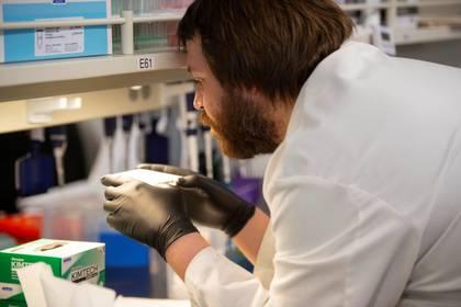 Un científico experiementando con hydroxicloroquina para determinar si puede ser efectiva contra el coronavirus (REUTERS/Craig Lassig/File Photo)