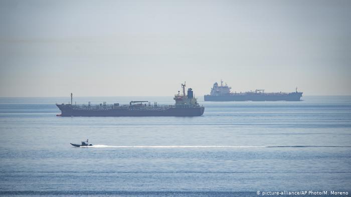 Straße von Gibraltar Iranischer Öltanker Clavel (picture-alliance/AP Photo/M. Moreno)