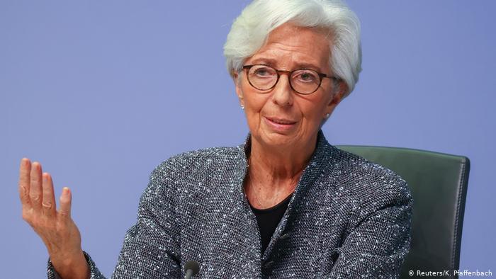 Deutschland Corona   EZB-Präsidentin Christine Lagarde (Reuters/K. Pfaffenbach)