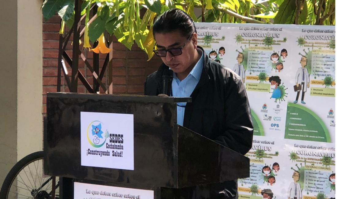 El responsable de la Unidad de Vigilancia Epidemiológica del SEDES, Rubén Castillo. OPINIÓN