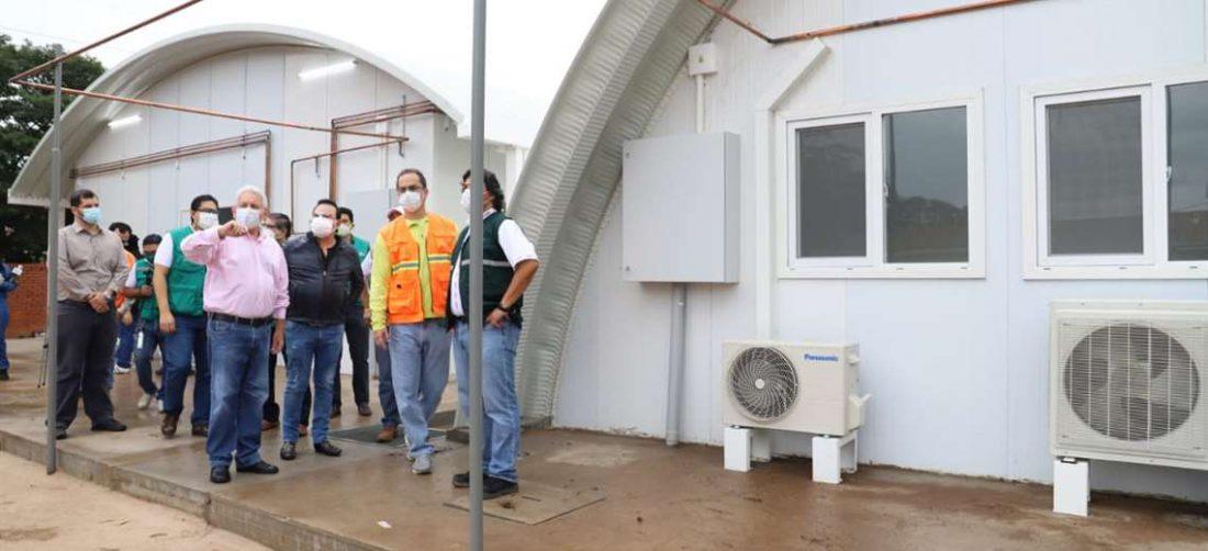 Los domos que esperan que se completen los respiradores /Foto: Gobernación
