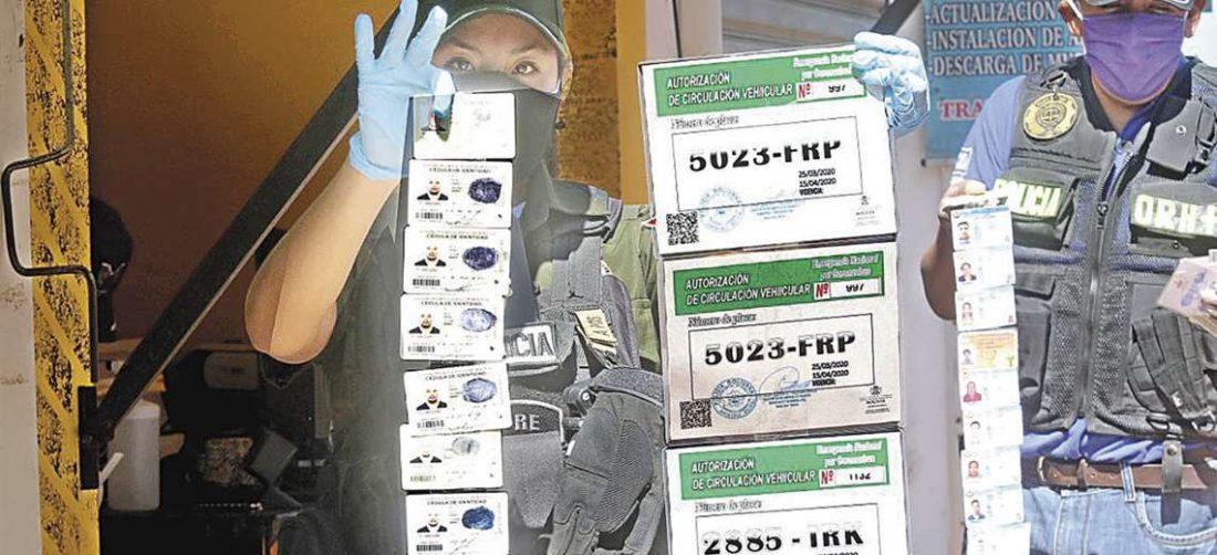 Uno de los hechos delictivos más llamativo, fue la detención de falsificadores. Foto: EL DEBER