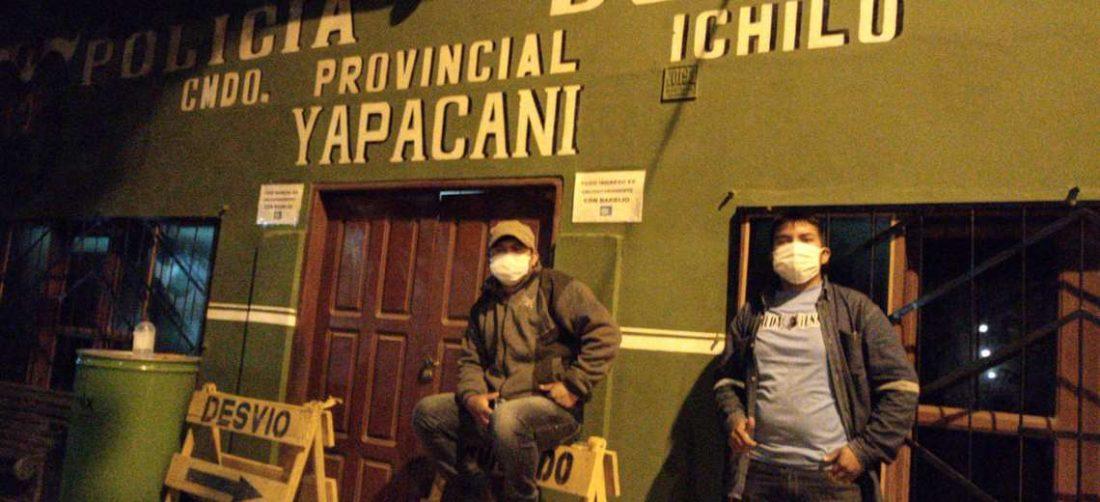 Los dirigentes vecinales evitaron que las oficinas policiales fueron destruidas.