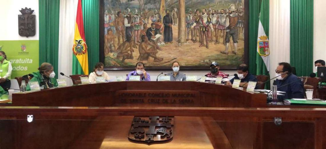 La alcaldesa interina Angélica explica al pleno del Concejo el plan contra el Covid-19