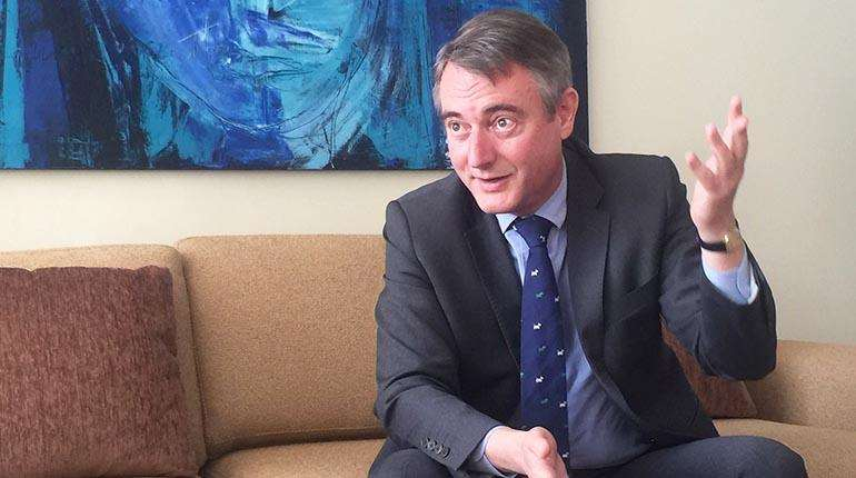 El embajador de la UE, León de la Torre.