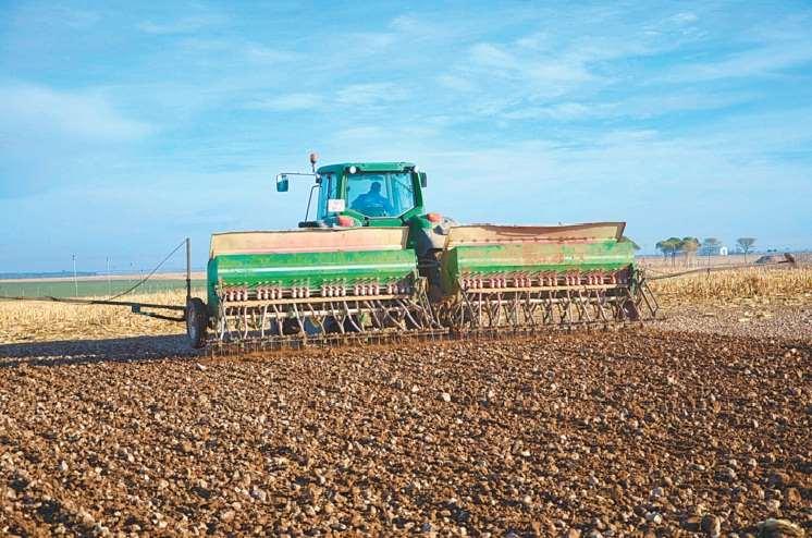 La siembra de soya está en pleno proceso en los campos productivos