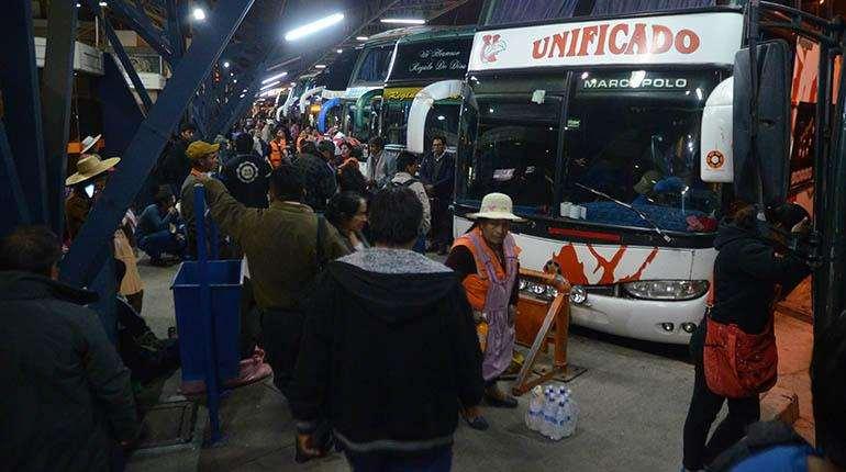 Foto de archivo. Desde la terminal de Cochabamba hay salidas a Oruro y Santa Cruz.