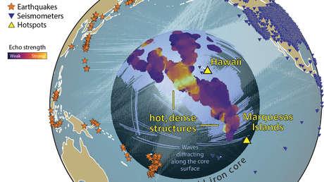 Descubren que las estructuras gigantes cerca del núcleo terrestre son más grandes y numerosas de lo que se creía
