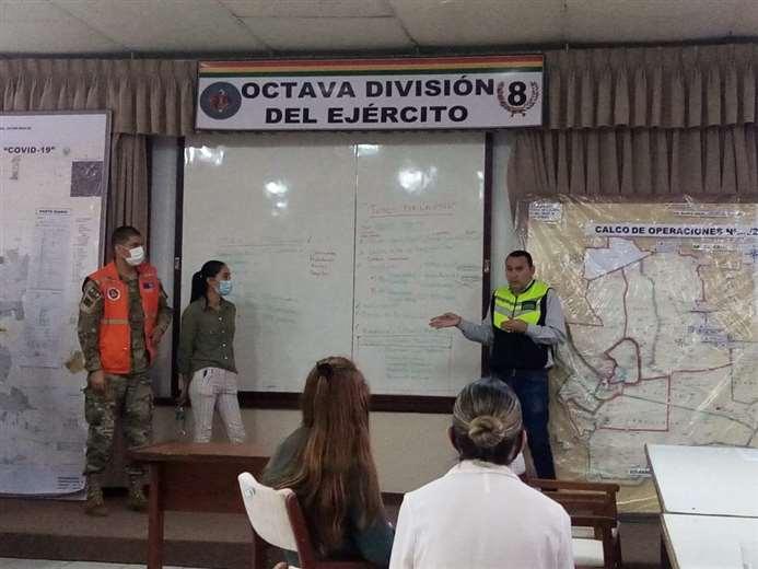 Reunión de coordinación, anoche (Foto: Alcaldía)