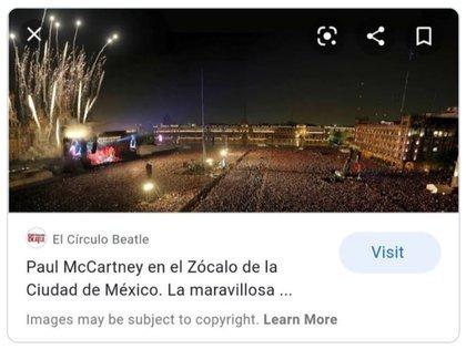 """La portada de """"Círculo Beatle"""" que da cuenta a qué show pertenece la imagen (Foto: Captura de pantalla)"""