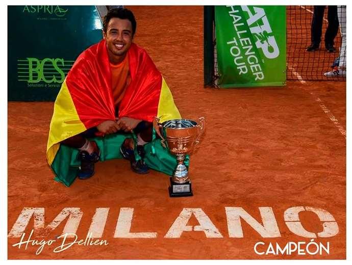 Dellien es el tenista número uno de Bolivia. Foto: internet