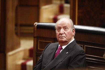 Foto de archivo del rey emérito Juan Carlos I en el acto conmemorativo del 40º aniversario de la Constitución de 1978, en el Congreso el 6 de diciembre de 2018, en Madrid, España (Europa Press)