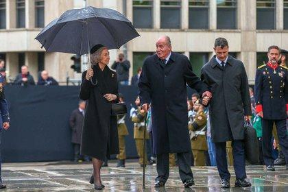 La reina Sofía y el rey emérito Juan Carlos en mayo de 2019 en Luxemburgo. Su esposa continuará viviendo, de momento, en el Palacio de la Zarzuela (Shutterstock)