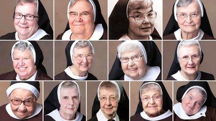Las 13 monjas de la Congregación de las Hermanas de San Félix de Cantalicio en Livonia, Michigan (Infobae)