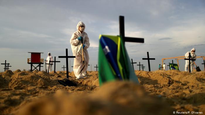 Brasilien   Coronavirus   Protest   Fake-Gräber   NGO Rio de Paz (Reuters/P. Olivares )
