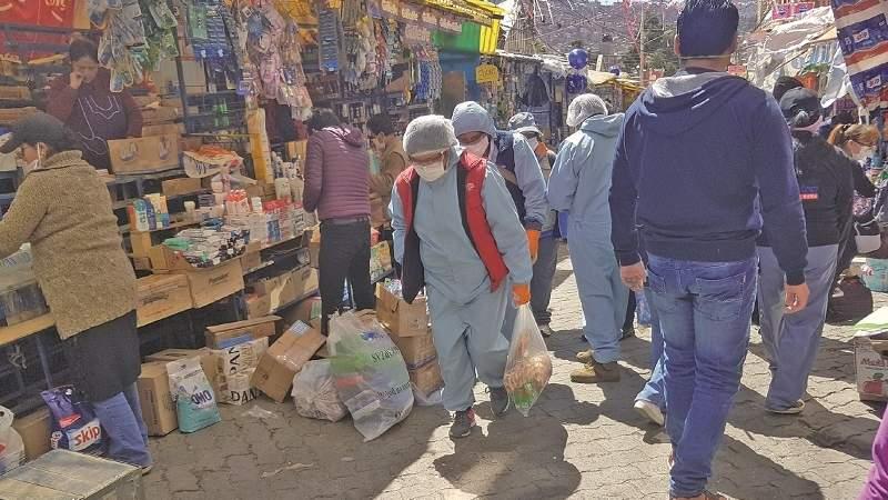 Hay casi 3.000 contagios de Covid-19 en 10 zonas comerciales de La Paz