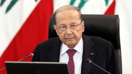 """El presidente del Líbano afirma que el país enfrenta una """"crisis económica sin precedentes"""""""