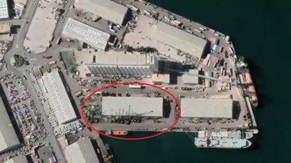 El almacén en el que se almacenaba el nitrato de amonio (Google Maps/Infobae)