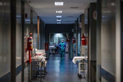 Un médico camina por un pasillo de un hospital (EFE/Juan Ignacio Roncoroni/Archivo)