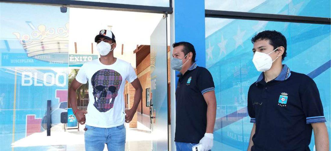 José Vargas fue uno de los futbolistas que se sometió a la prueba de coronavirus este miércoles. Foto: Prensa Blooming