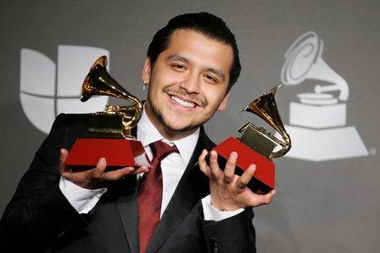 Apenas en noviembre de 2019, Christian Nodal obtuvo dos premios Grammy Latino en Las Vegas, Nevada (Foto: REUTERS/Danny Moloshok)