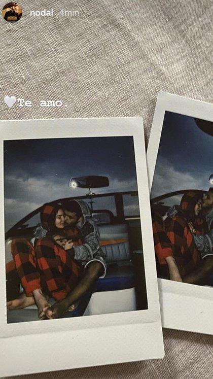 Las fotos que Nodal difundió en sus instastories en las que confesó su amor por Belinda (Foto: Instagram@ nodal)