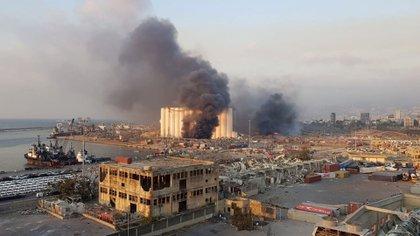 El incendio que miraban los niños por su ventana, momentos antes de la explosión