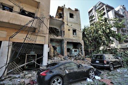 El centro de Beirut quedó con enormes daños materiales