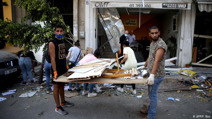 Beirut después de la explosión masiva en la zona portuaria.