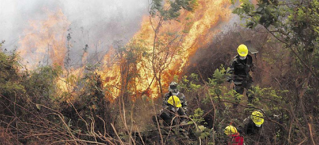 Los incendios en el parque Otuquis