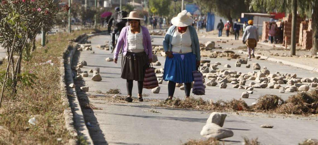 El bloqueo en Cochabamba. APG Noticias