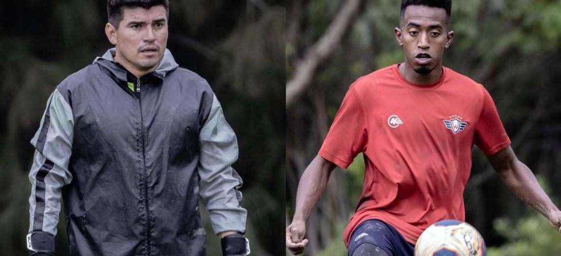 Hugo Suárez y Jaime Arrascaita esperan su segunda prueba de coronavirus. En la primera dieron negativo. Foto: Club Wilsterman