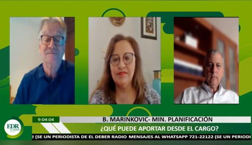 El ministro Branko Marinkovic, hoy en Qué Semana ! de EL DEBER Radio con el director Pedro Rivero y la jefa de Redacción, Mónica Salvatierra