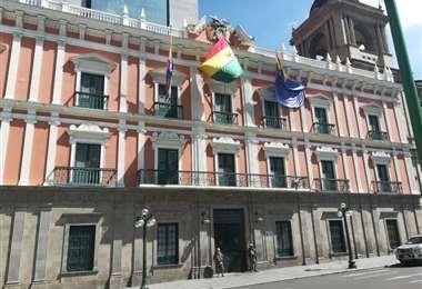 Frontis de Palacio de Gobierno en La Paz.