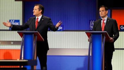 Ted Cruz y Marco Rubio (Reuters/archivo)