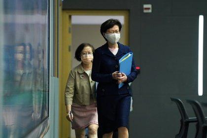 Carrie Lam, jefa del ejecutivo de Hong Kong, fue sancionada por EEUU (Reuters)