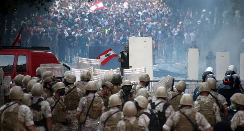 Asia: Protestas en Beirut, Líbano EN VIVO: Al menos un policía ...