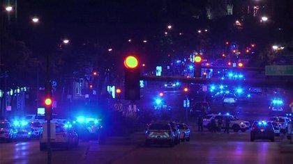 El despliegue policial en el centro de la ciudad