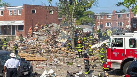 VIDEOS: Un muerto y al menos 3 heridos en estado crítico tras una gran explosión en Baltimore