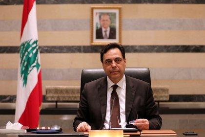 El primer ministro libanés Hassan Diab (REUTERS/Mohamed Azakir)