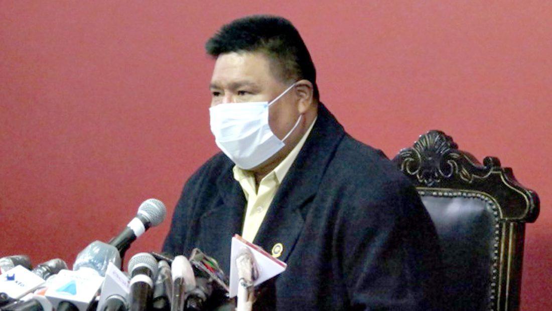 El presidente de la Cámara de Diputados, Sergio Choque. ARCHIVO