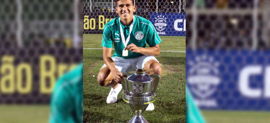 Leonardo Zabala se consagró campeón con la categoría sub-20 del Palmeiras. Foto: Gentileza Leonardo Zabala